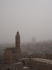 Dust storm over Jerusalem