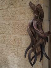 bundle of shofars in the jewish quarter