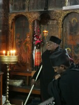 Under the Church of the Holy Sepulcher