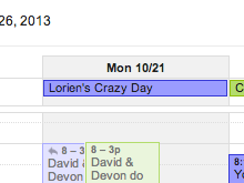 Lorien's Crazy Day