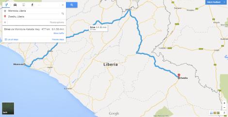 Monrovia to Zwedru