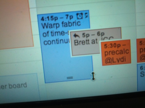 my calendar today