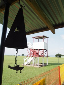 steel bell and tower at Kpong