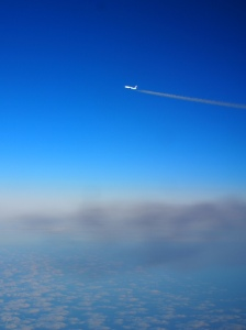 Air Canada over Greenland