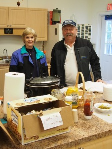 Doug and Judy Williams have prepared lunch for visitors
