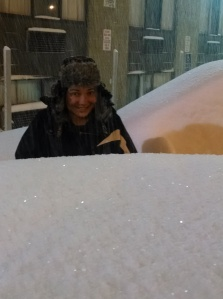 m in snow