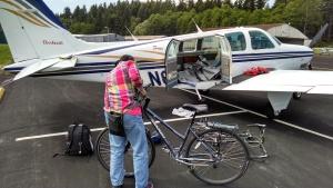bikes on a plane