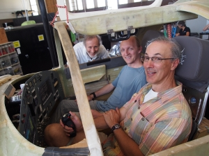 Richard, Eric and me in the ergo mockup