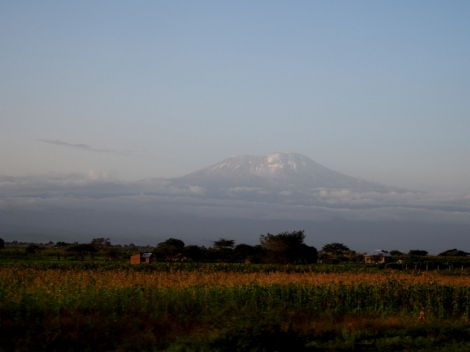 Got to have the obligatory photo of Kilimanjaro somewhere in the blog: on the way to the airport