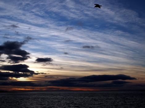 Sunrise over the Straits of Magellan