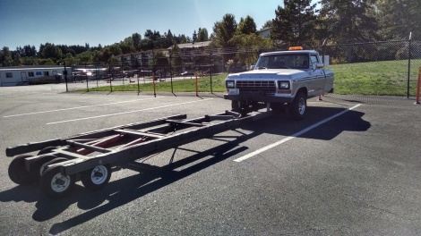 What the truck looks like when it's not attached to an airplane.
