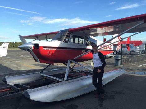 Happy, newly-minted seaplane pilot.